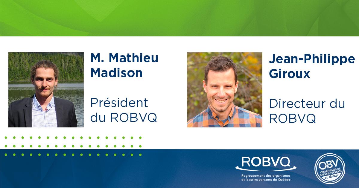 Mathieu Madison, président du ROBVQ et Jean-Philippe Giroux, directeur général